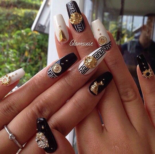 Versace Nails Glamsusie Nails Unghie Gel Unghie și Versace