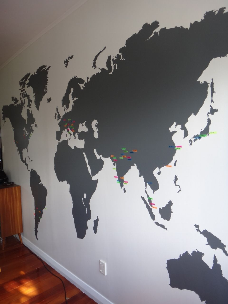 World map sticker for wall india - Extra Large World Map Vinyl Wall Sticker