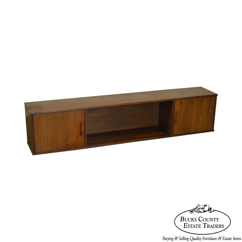 Mid Century Danish Modern Style Walnut Hanging Wall Cabinet | Antiques,  Furniture, Cabinets U0026