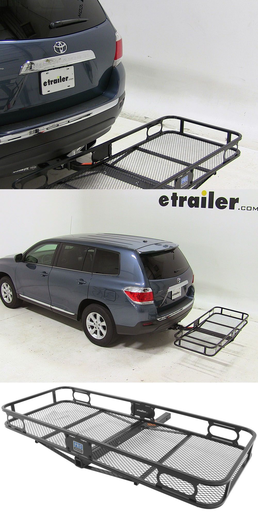 Pro Seriech Cargo Carrier With Raised Rails You Can Transport Hiking And Camping Gear Securely Efficiently Compatible The Toyota Highlander