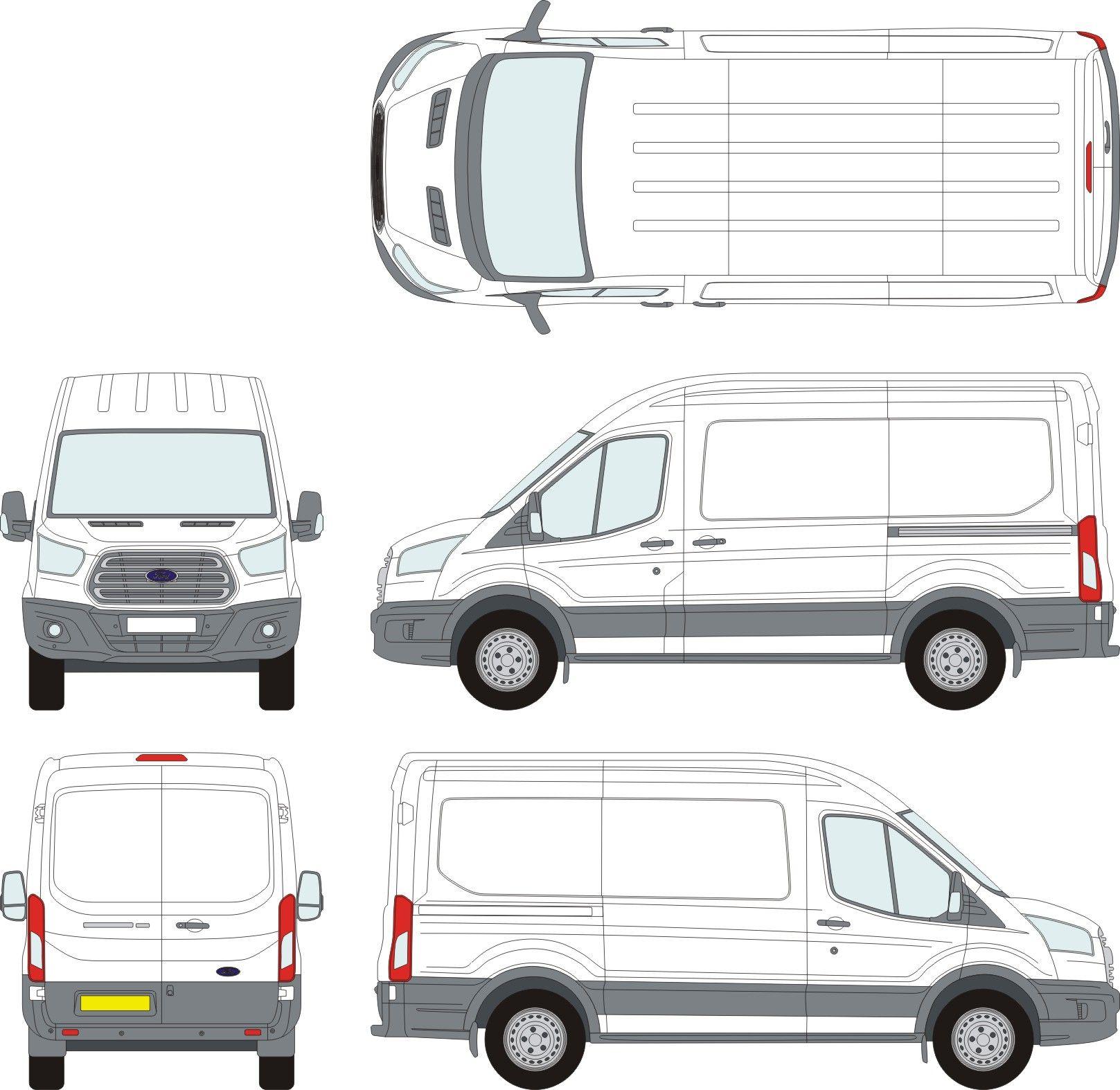 ford transit vehicle outlines 1 pinterest. Black Bedroom Furniture Sets. Home Design Ideas