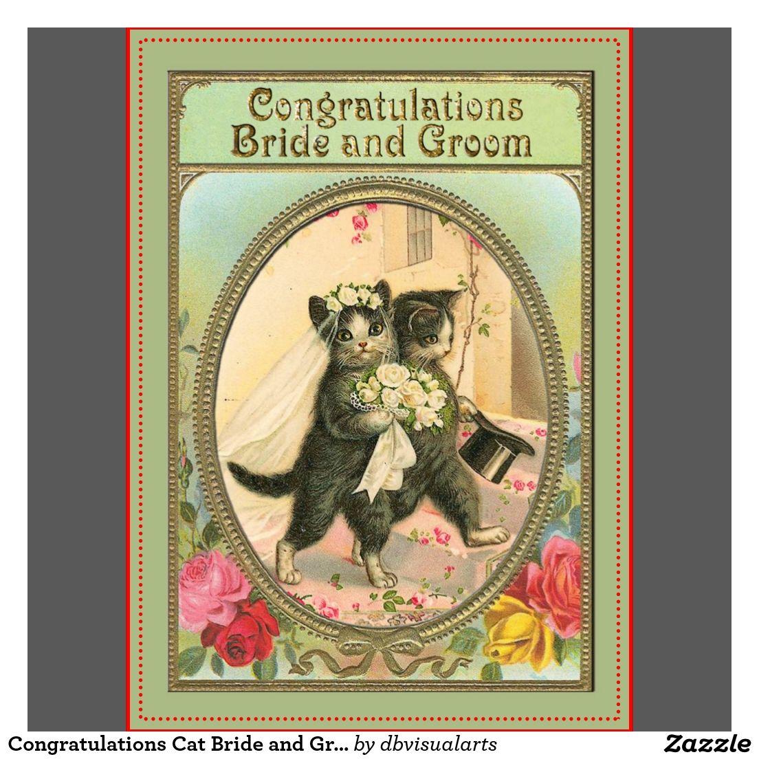 Vintage Cat Wedding Cards, Vintage Cat Wedding Card Templates ...