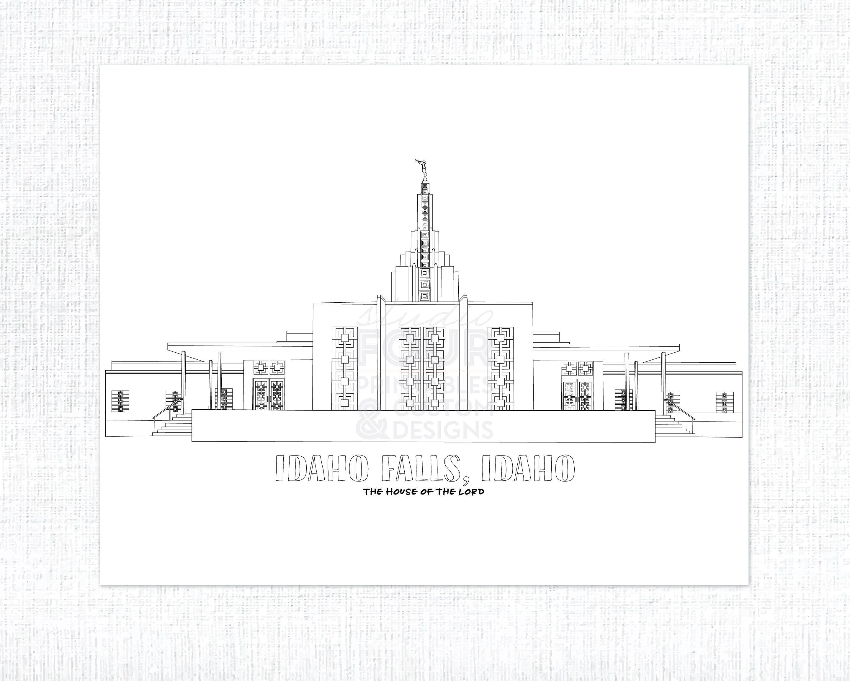 printable idaho falls idaho lds temple coloring page