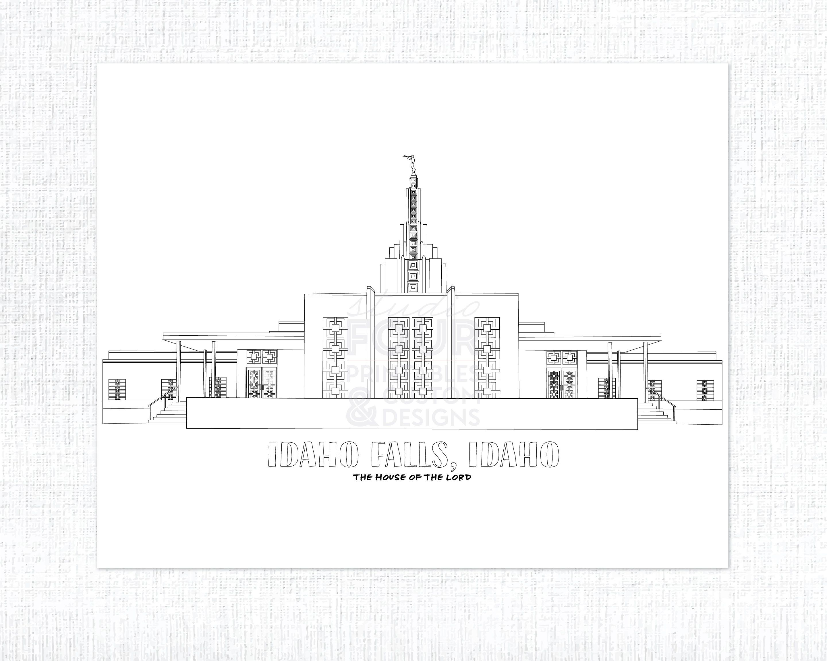 Printable Idaho Falls Idaho Lds Temple Coloring Page Pdf