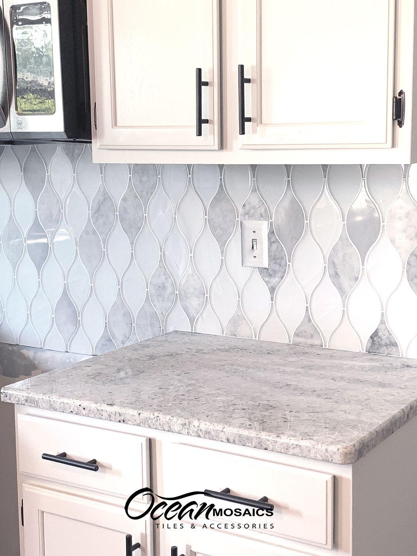 unique kitchen backsplash glass tile