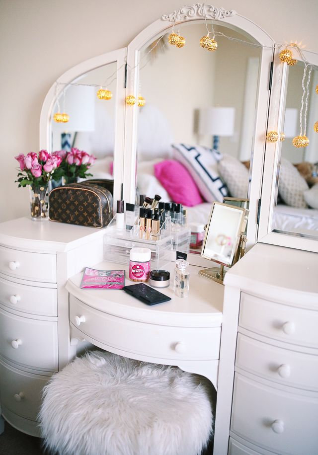 Six Favorite Beauty Products Beauty Room Room Pink Vanity