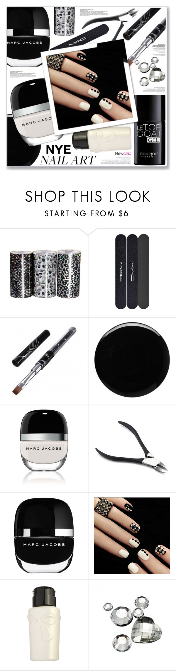 """""""NEWCHIC"""" by nanawidia ❤ liked on Polyvore featuring beauty, MAC Cosmetics, Deborah Lippmann, Marc Jacobs, Bourjois, polyvoreeditorial, beautyset, newchic and Holidaygifts"""