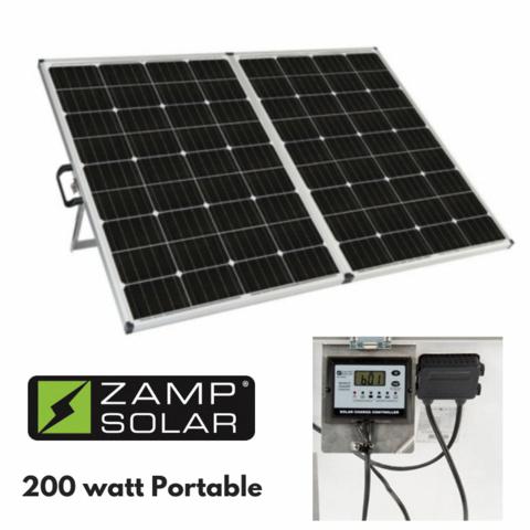200 Watt Zamp Portable Solar Charging System Solarpowersystem Solarpanelinstallation Best Solar Panels Solar Solar Panels