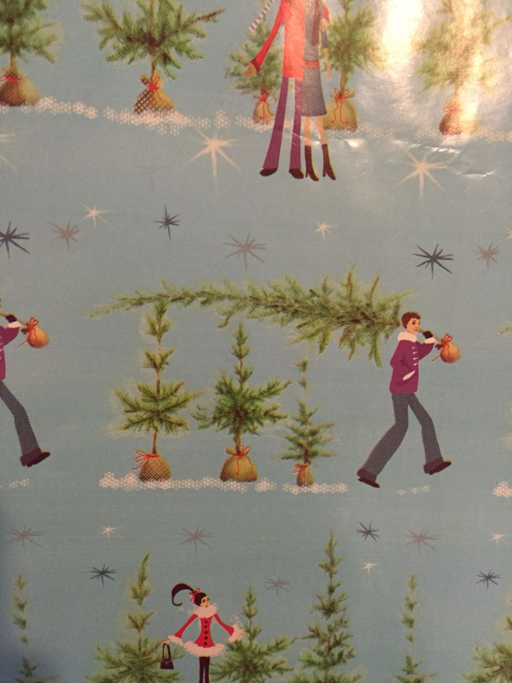 my favorite wrapping paper from years past probably bought at fred meyer