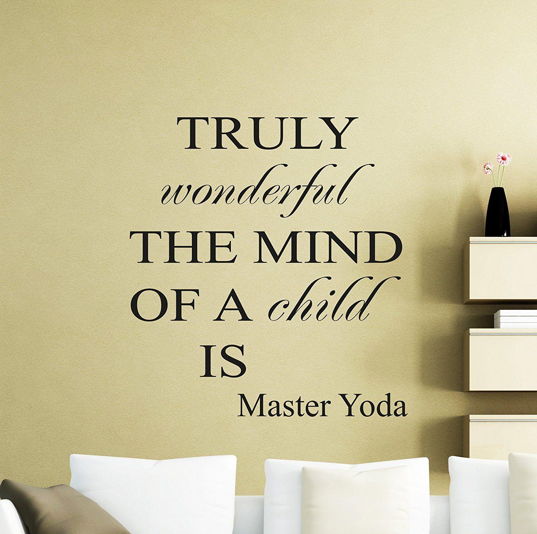 Star Wars Wall Vinyl Decal Truly Wonderful The Mind Of A Mind Jedi ...