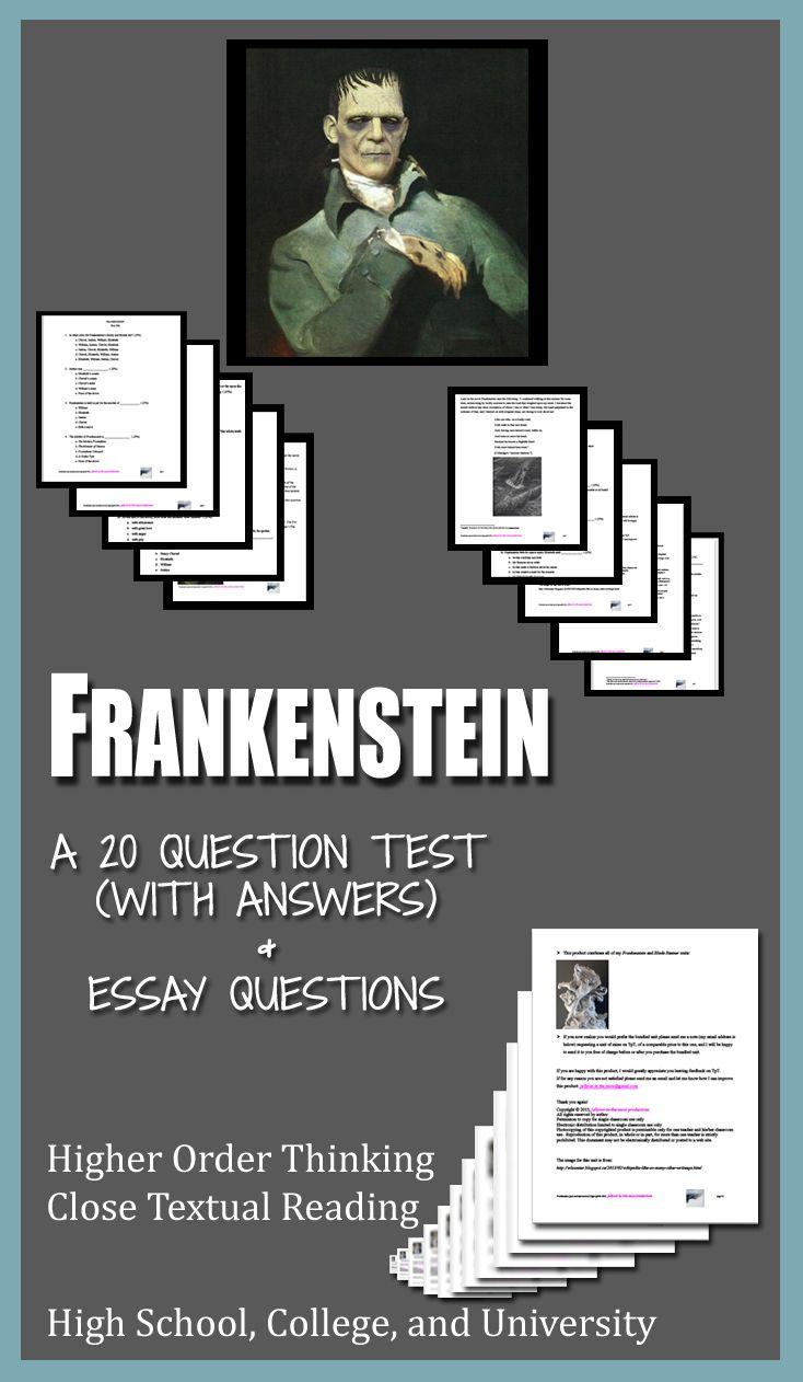 frankenstein literature ela test essay questions entire novel frankenstein literature ela test essay questions entire novel