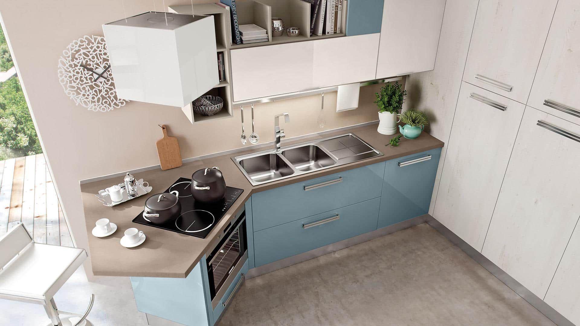 Arredamento per cucine di piccole dimensioni arredo cucine piccole moderne e componibili ad - Cucine angolari piccole dimensioni ...