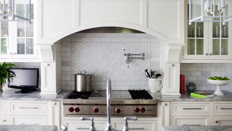 morgan harrison home: amazing white kitchen with ivory kitchen