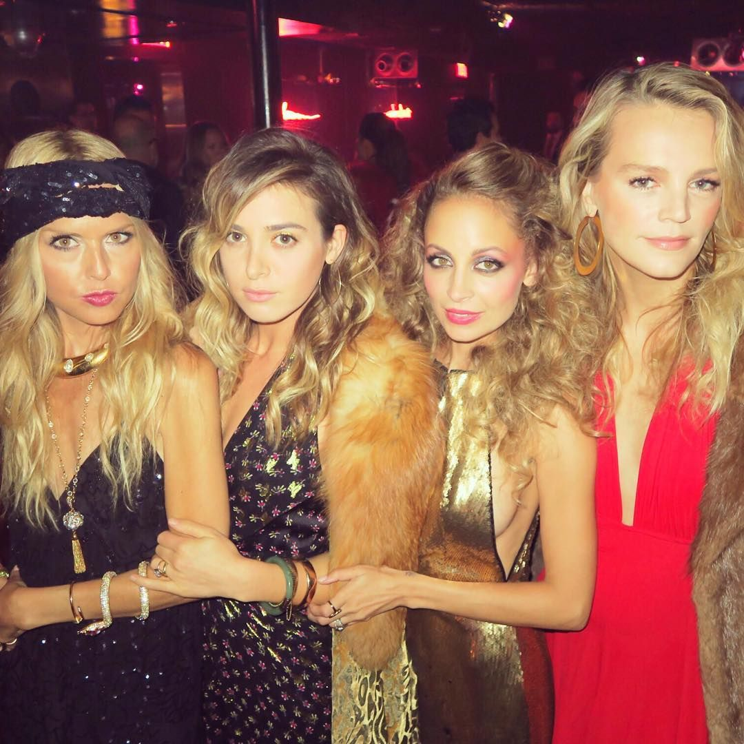 nicole richie celebrates 35 with a groovy star-studded disco