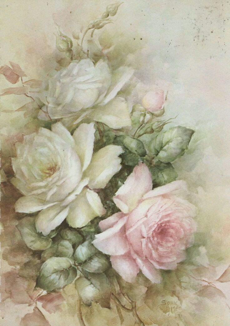 картинки для декупажа в стиле винтаж розы будут рядов