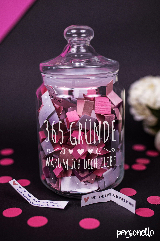 Ausgefallenes Diy Geschenk Keksglas 365 Grunde Warum Ich Dich