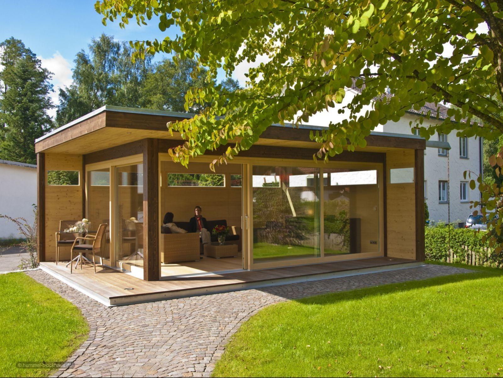 """Modernes Luxus Gartenhaus """"my Lounge xl"""" HUMMEL"""