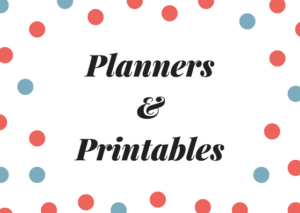 Planners & Printables (downloads)