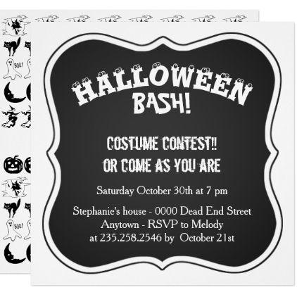 Personalize blackwhite halloween font pattern card halloween personalize blackwhite halloween font pattern card halloween invitation stopboris Choice Image