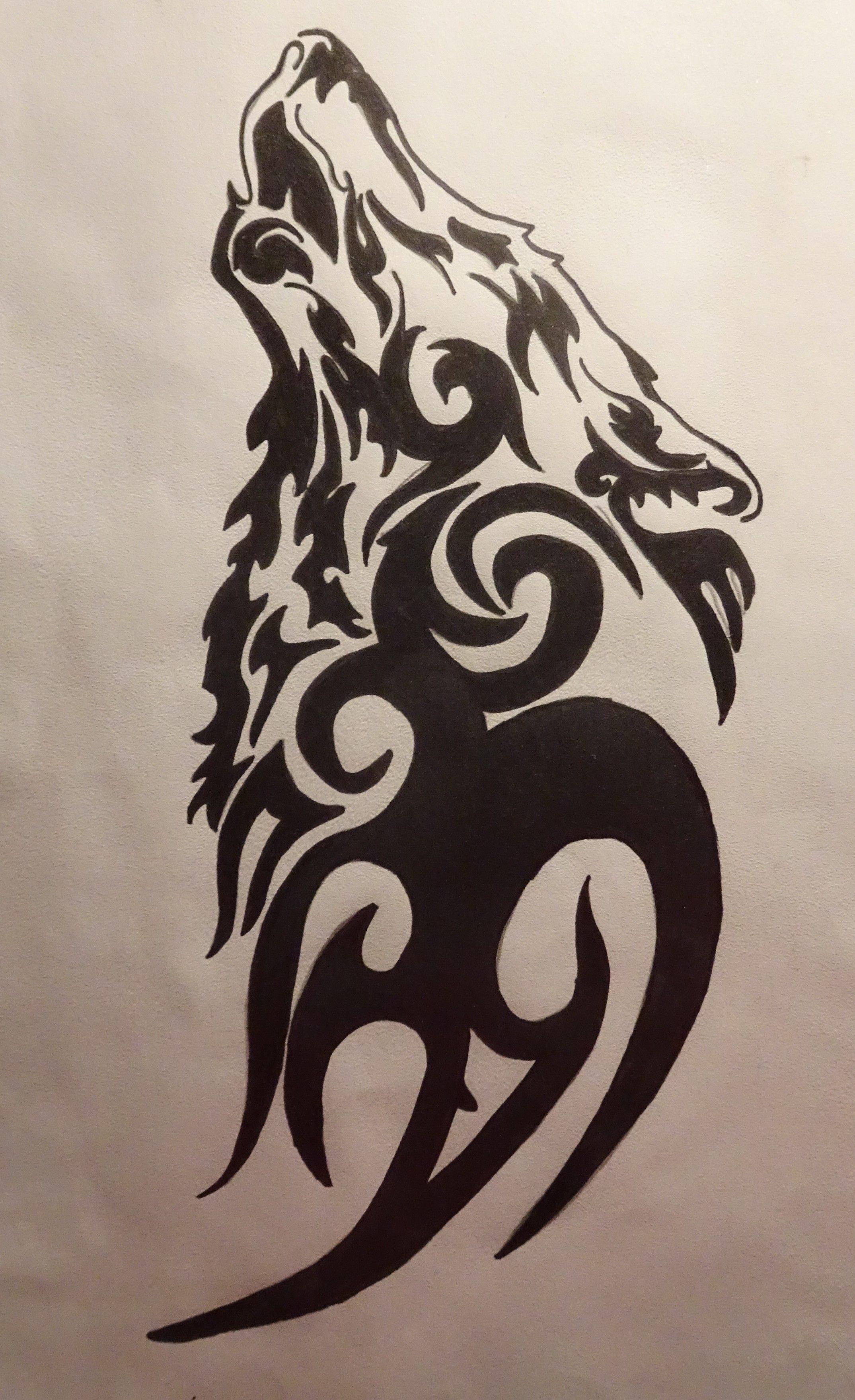 Pin By Roberto Porras Jr On Dessin Tribal Tribal Wolf Tattoo Tribal Animal Tattoos Wolf Tattoos