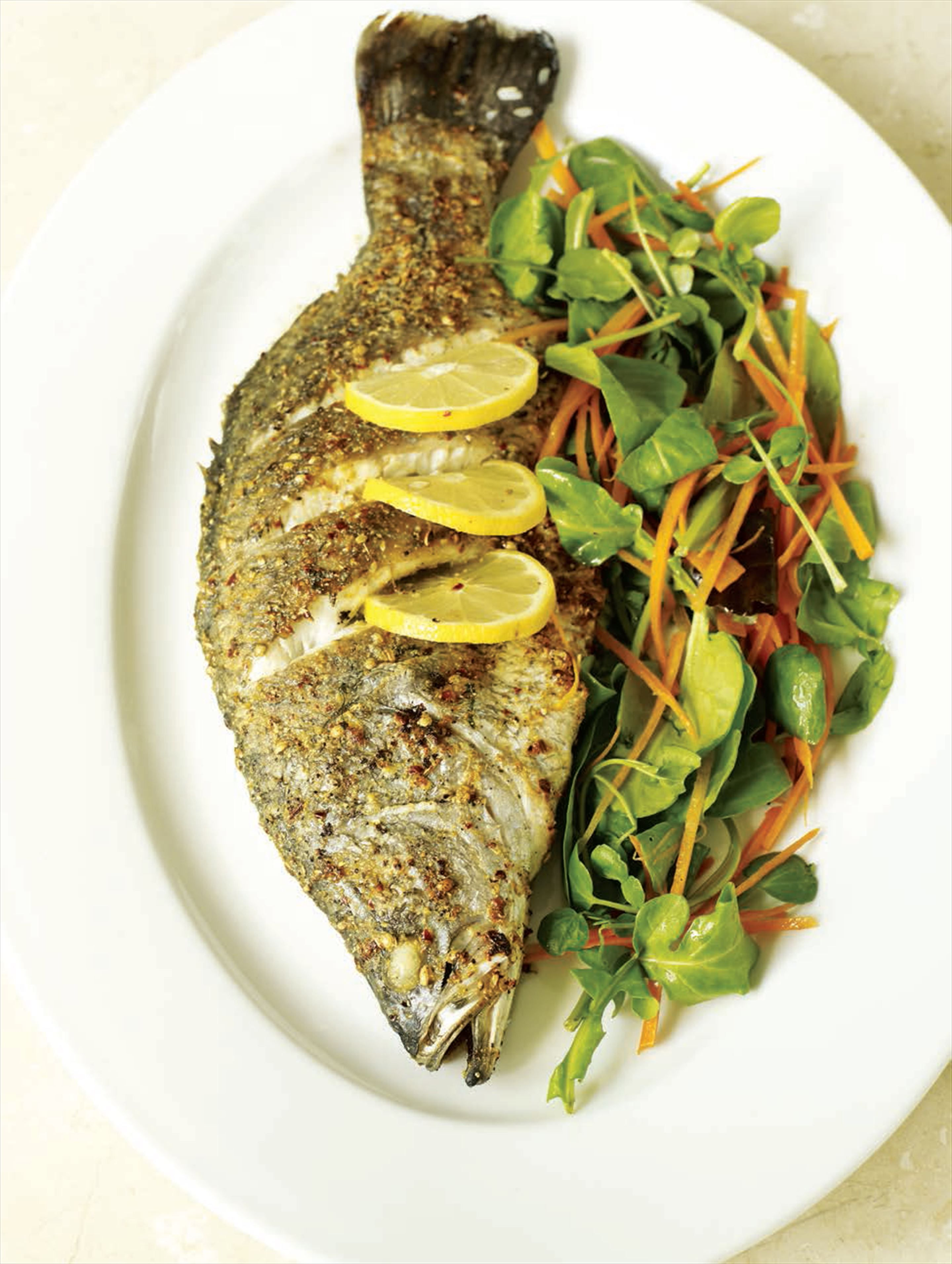 Spice Roasted Barramundi Recipe From Fish Indian Style By Atul Kochhar Cooked