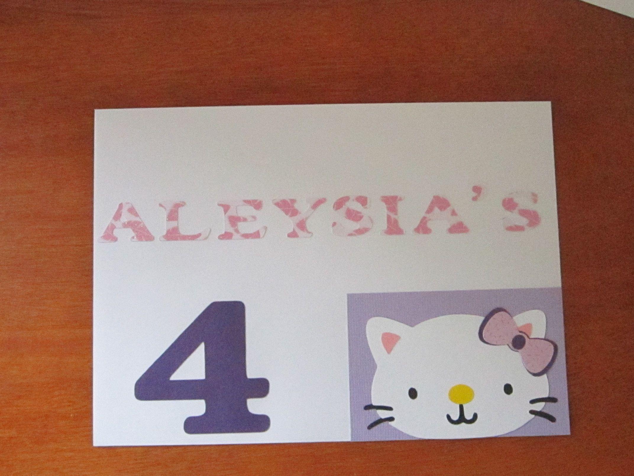 hello kitty birthday card envelop  hello kitty birthday