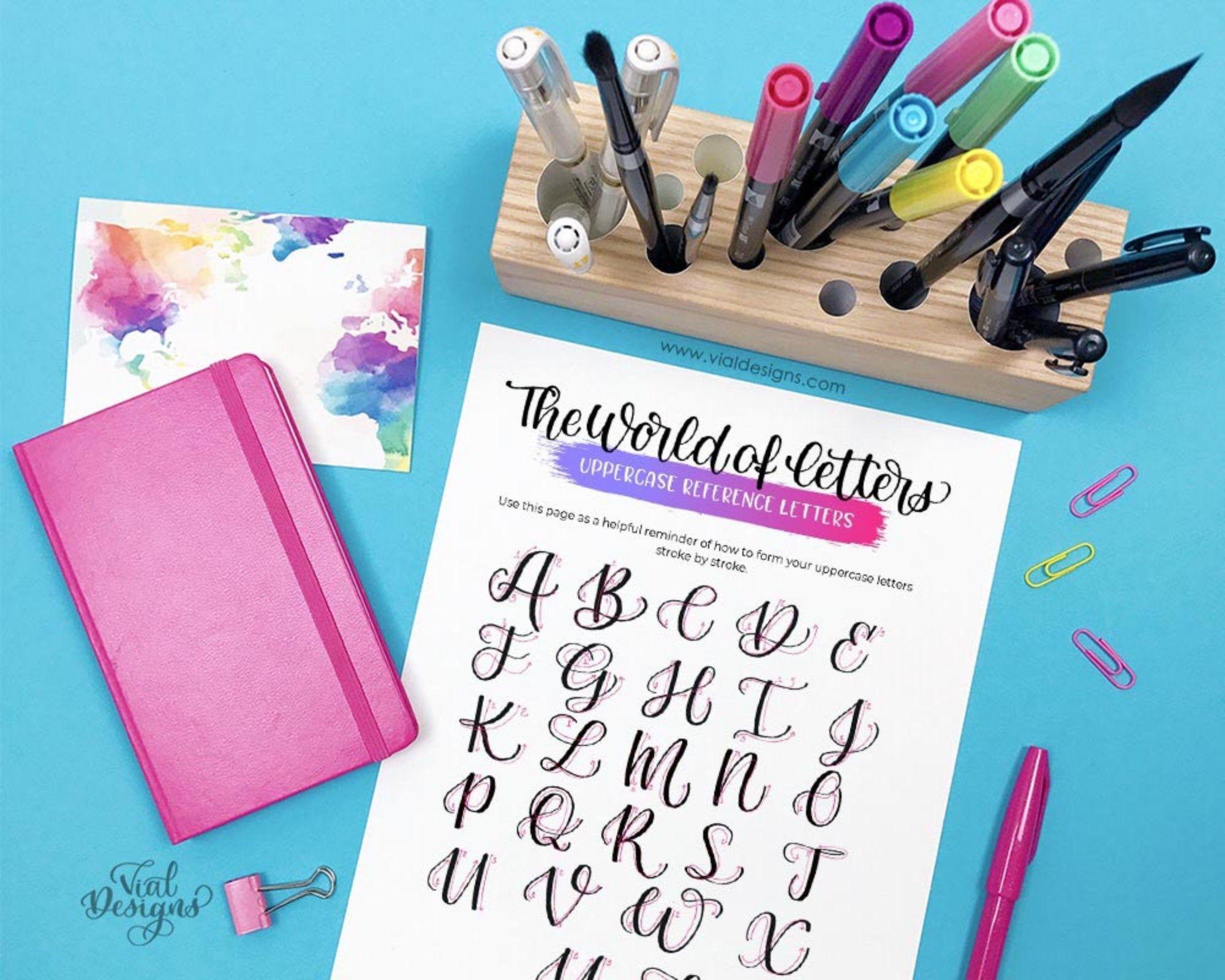 Brush Lettering Workbook For Beginners Hand Lettering
