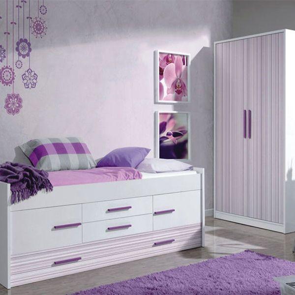 Un dormitorio juvenil decorado con la línea iPlash de muebles > Cama ...
