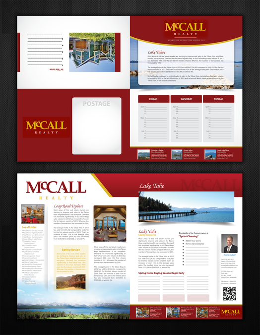 freelance help mccall realty with a new brochure design