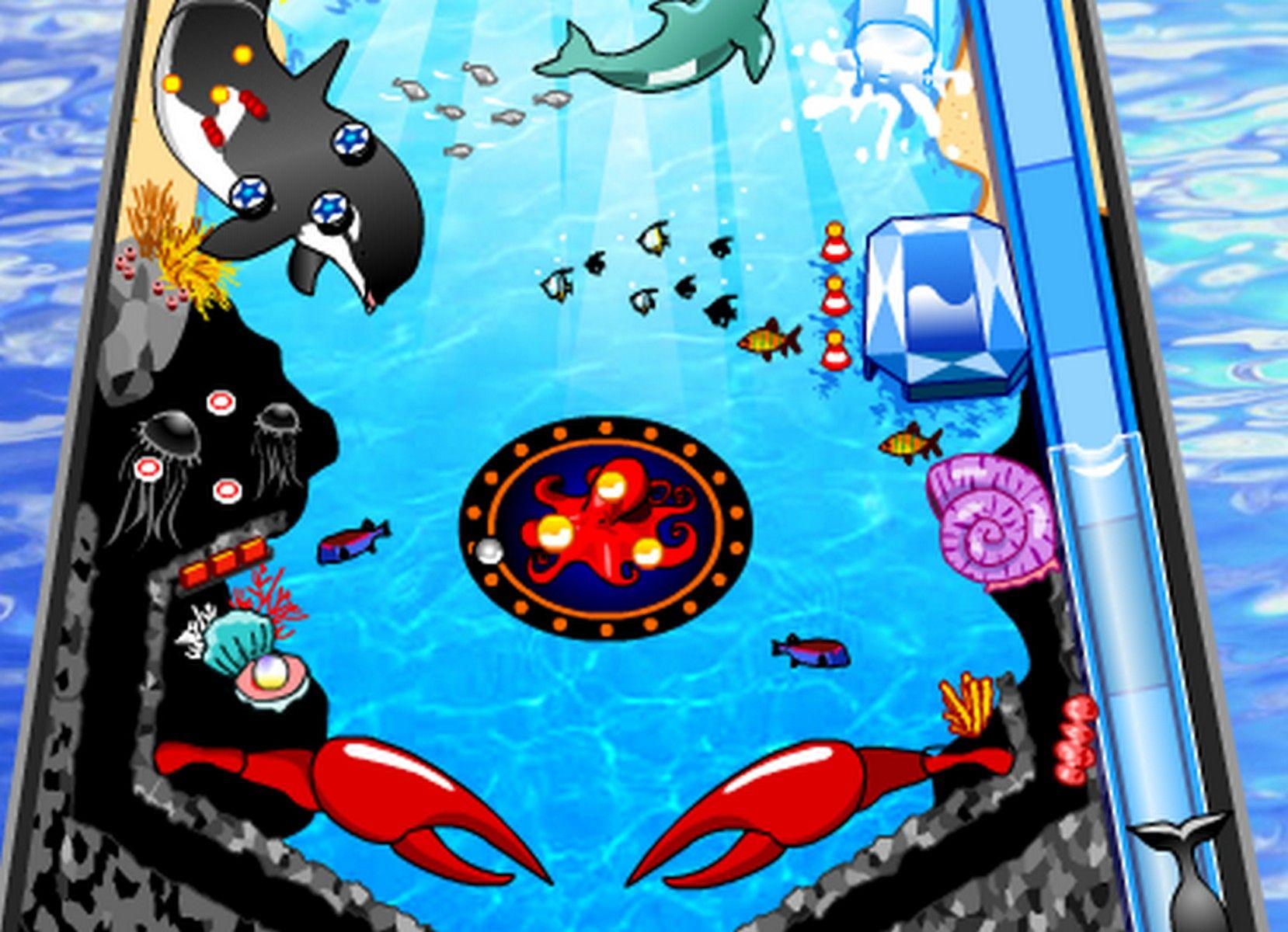 A fun pinball game with fish in the sea pinball pinball