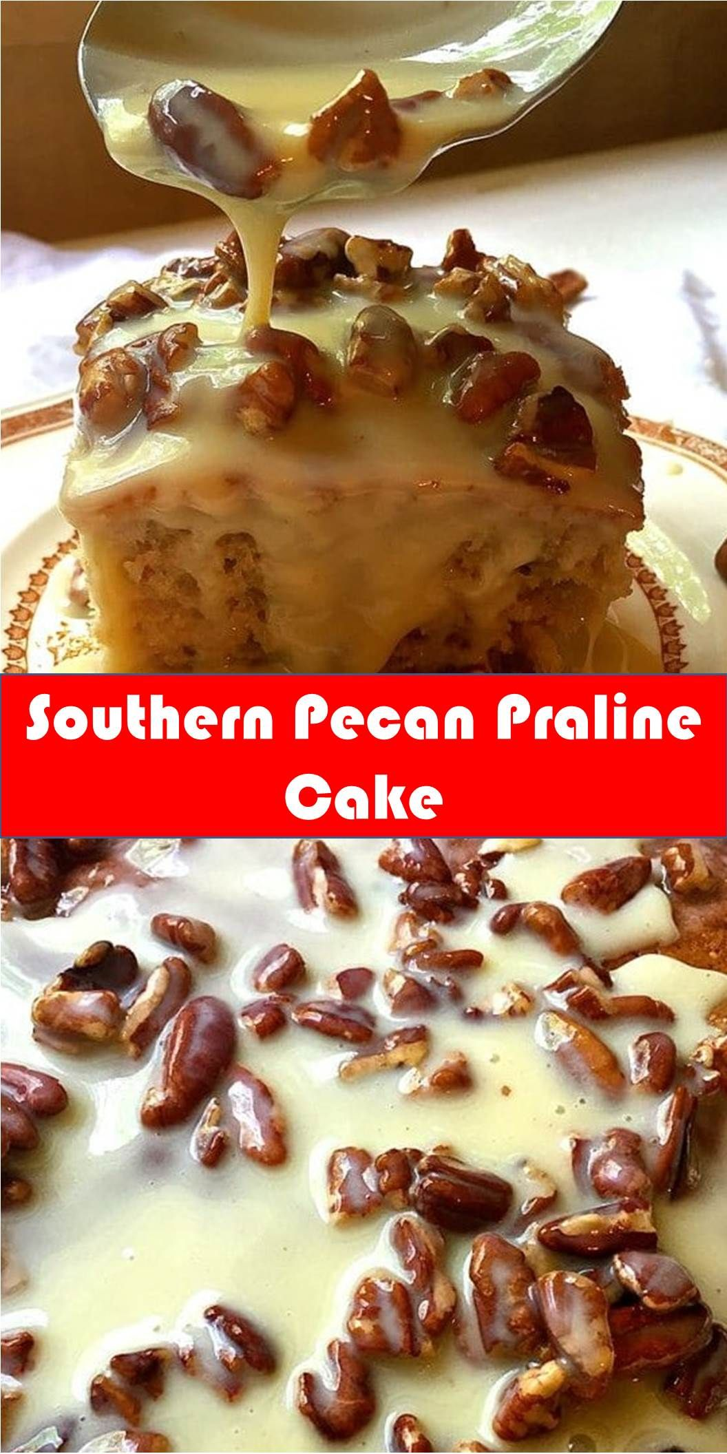 #Delicious #Southern #Pecan #Praline #Cake Your family's favorite food and drink ! Southern Pecan Praline Cake Southern Pecan Praline Cake is about as southern as you can get and if you like pecans and pralines you will love this easy to make, decadent and delicious cake. #Best #Vegas #Recipe! #BestVegasRecipe! #pralinecake