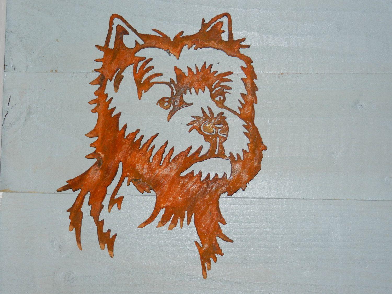 West Highland Terrier Gift Westie Wall Decor Gift Rusty Etsy Rusty Metal Garden Art West Highland Terrier Garden Wall Art