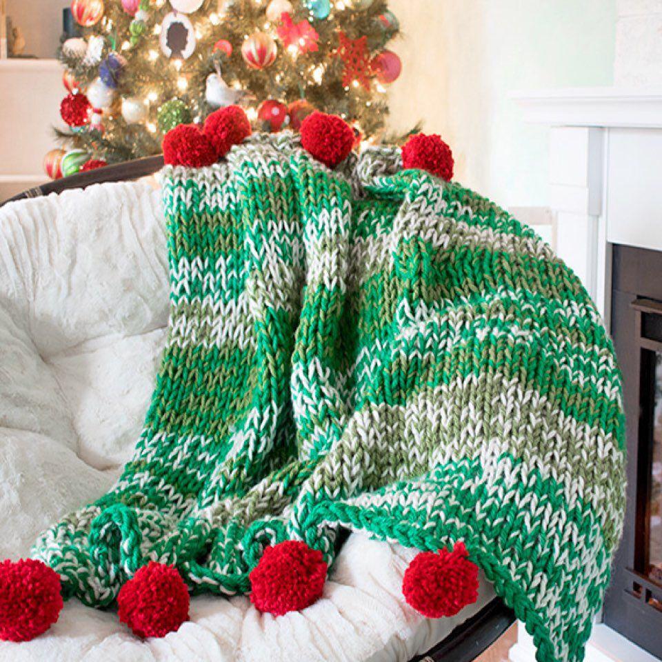 Holiday Throw Knitting Pattern | Holiday throw, Christmas ...