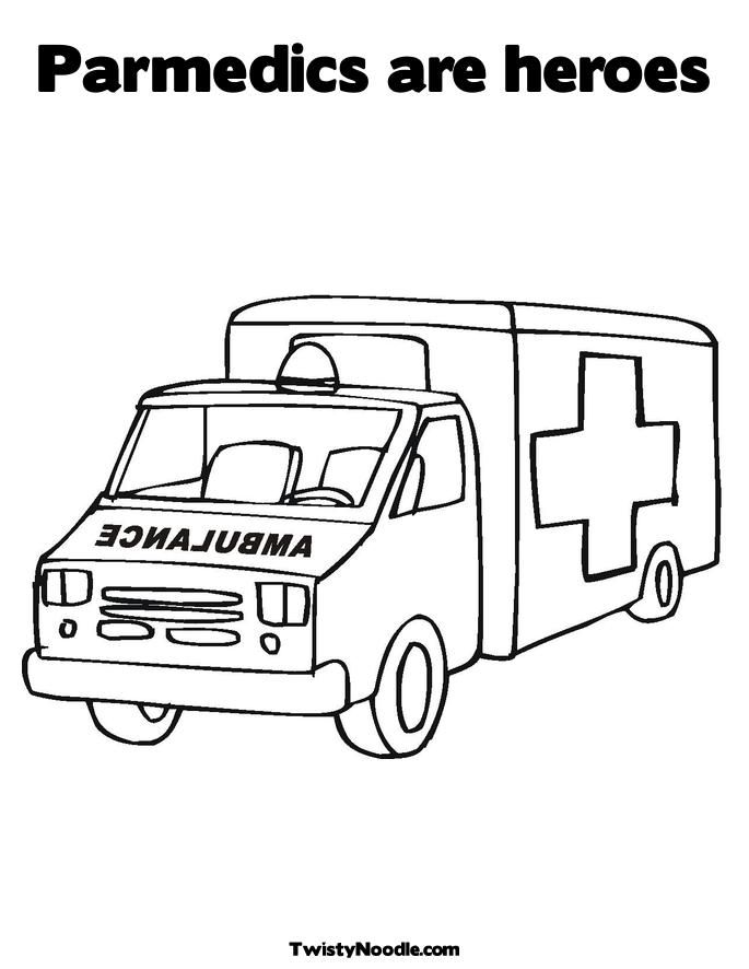 Printable First Aid Coloring Book Paramedic Colouring Pages