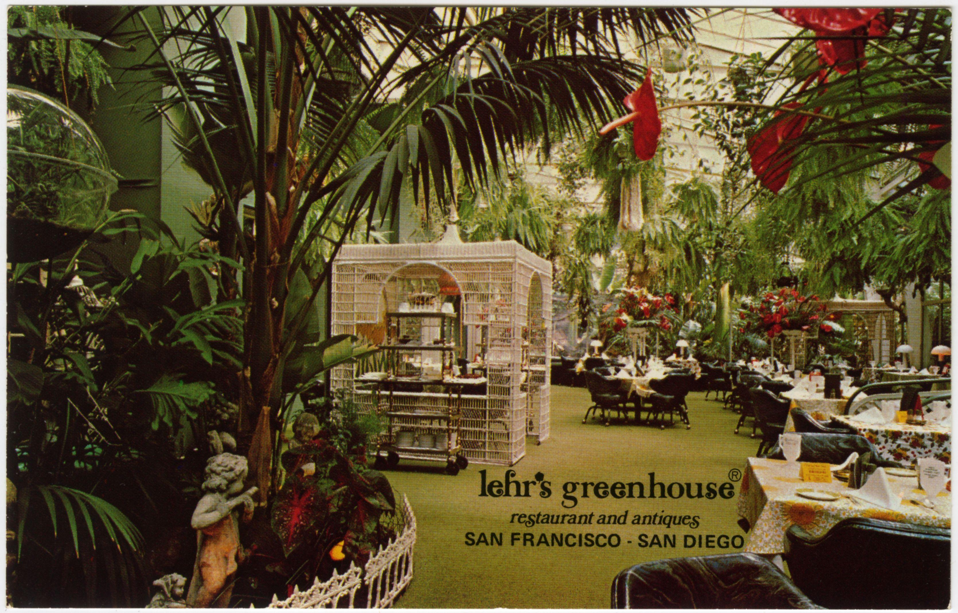 Lehr's Greenhouse Restaurant & Antiques in San Francisco