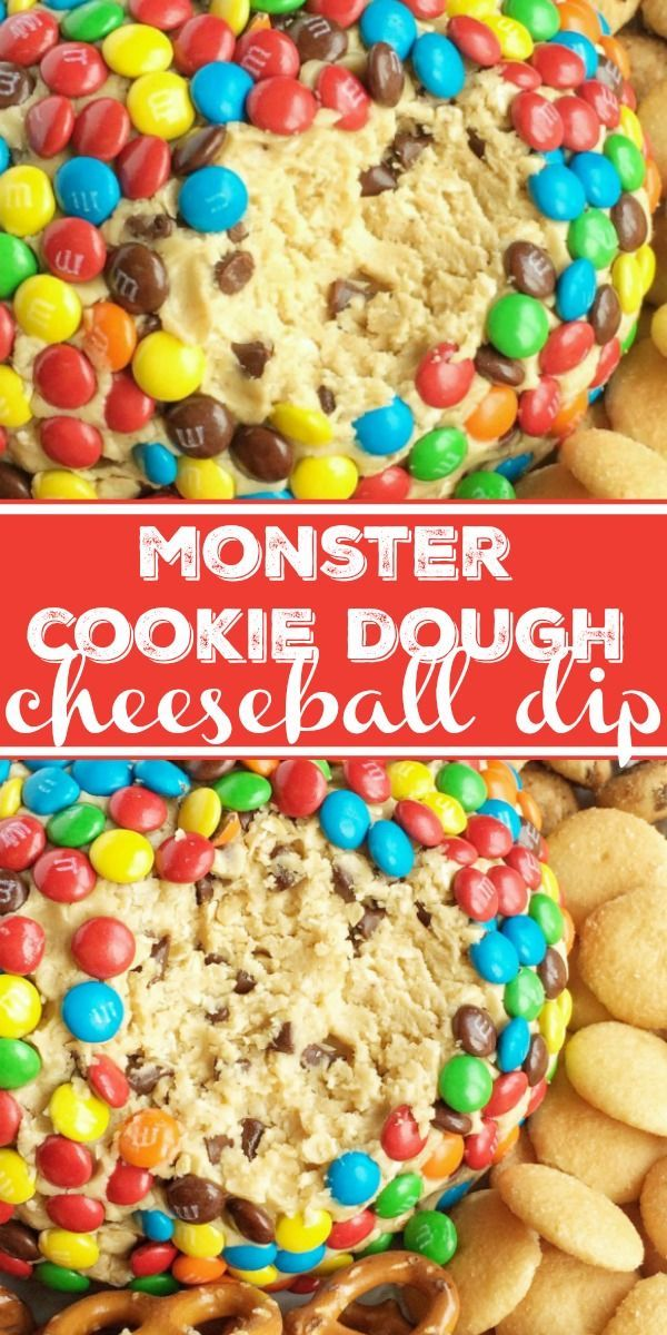Monster Cookie Dough Cheeseball Dip | Together as Family