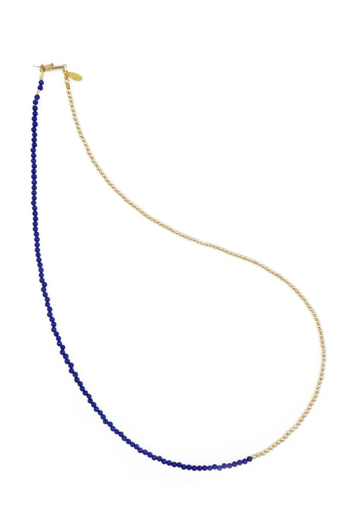 46553a35b4d8d5 Lapis Lazuli & Gold Necklace (doubles as Bracelet) | NDS DELICATES ...