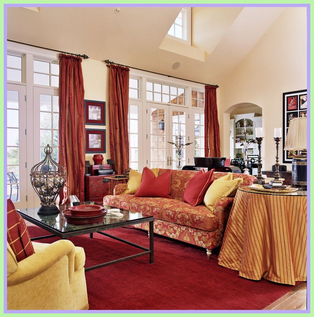10+ Top Red Living Room Furniture Decorating Ideas