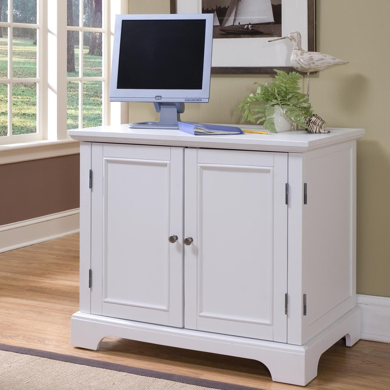 Merveilleux Home Styles Naples Compact Computer Armoire   Clear The Clutter In Your Home  Office With The Home Styles Naples Compact Computer Armoire .