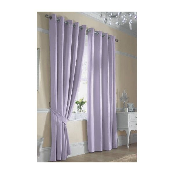 Long Lilac Curtains Surely A Great Idea To Keep The Room Full Of