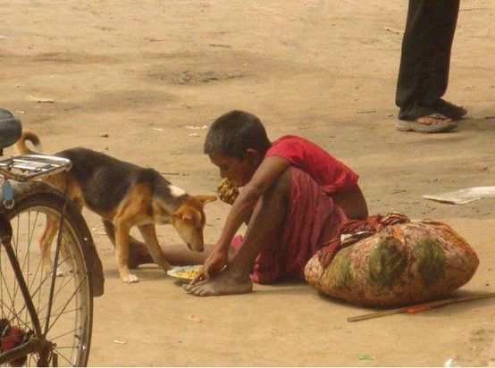 Poor People Are often most Generous because they know what it feels to have nothing.