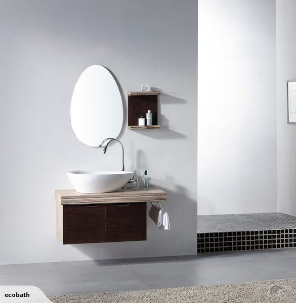 Solid Wood Wall Hung Vanity 1000 Mm With Sit On Top Ceramic Basin Model No V 11049 Measurements Round Mirror Bathroom Wall Hung Vanity