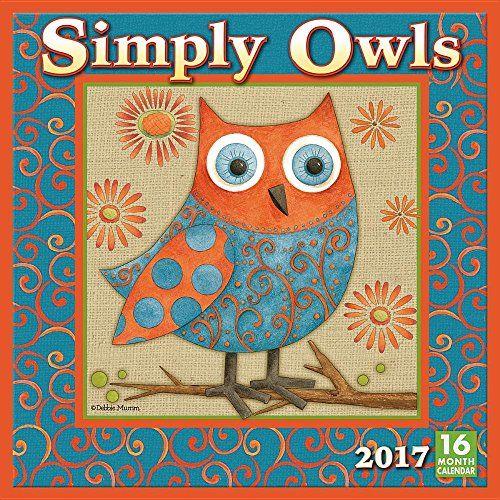Simply Owls 2017 Wall Calendar by Next Day Art