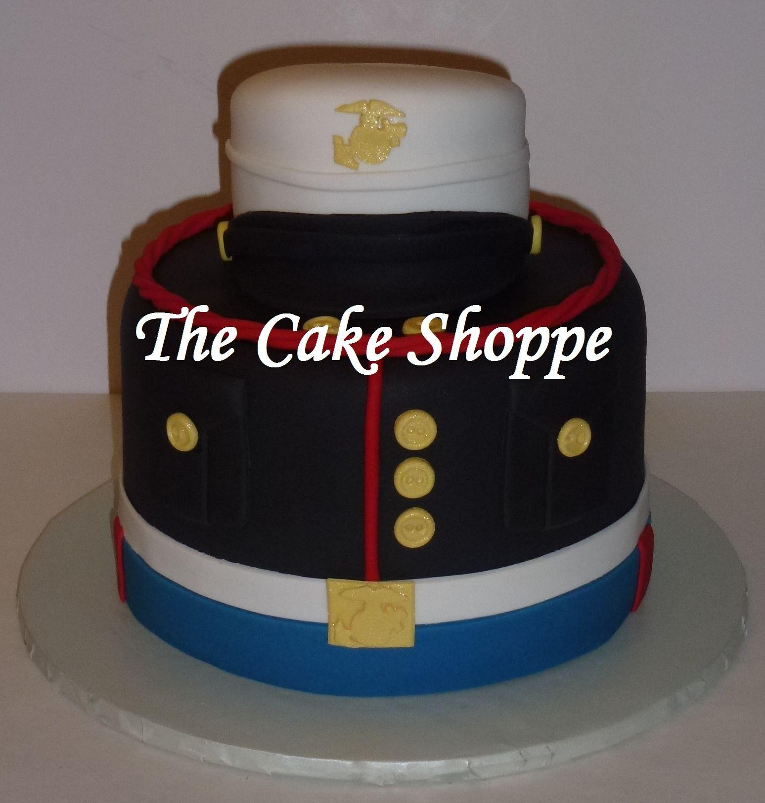 US Marines uniform cake Grooms Cakes Pinterest Cake Marine