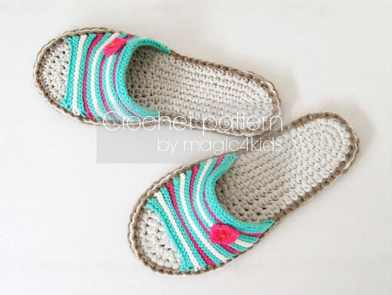 3e6a9974b Crochet pattern-sandals with jute rope soles