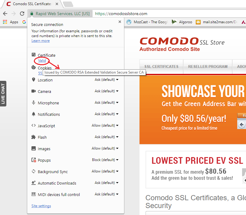 How To Find Ssl Certificate Detail In Google Chrome Technology