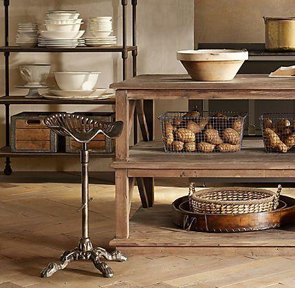 Restoration Hardware Kitchen Island Interiors Rustic And