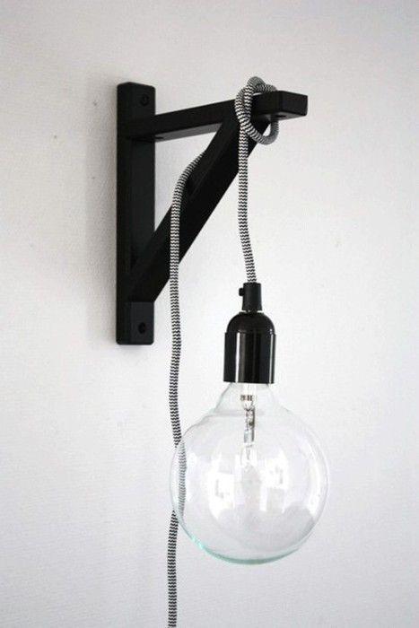 An Entry From Ffellow Home Decor Hacks Bracket Lights Diy Lamp