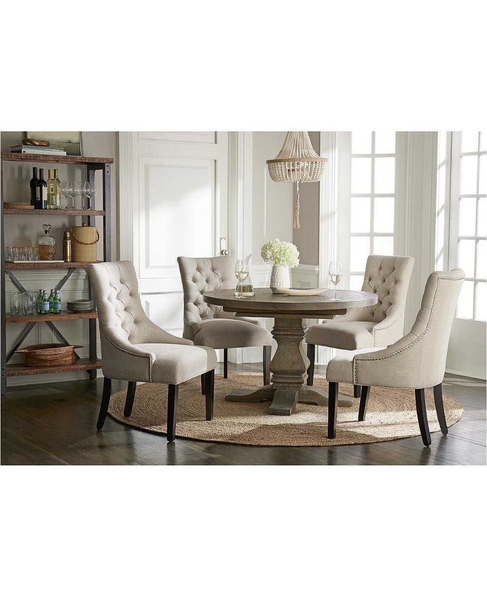 Venta > round dining table set macys > en stock