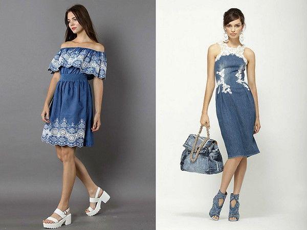 Сарафаны платья из джинсы